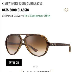 Ray ban cats 5000 aviator sunglasses